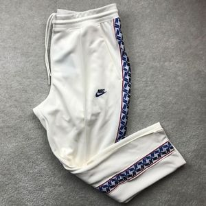Nike Taped Tab Poly Track Pants White Red Blue